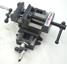 "4"" Cross Slide Drill Press Vise X-Y Clamp 2 Way Metal Milling Machine Heavy Duty"