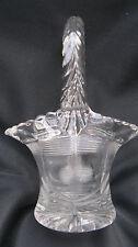 """Antique Pattern Glass Duncan Miller Pat'd Wheel Etched5"""" Miniature Brides Basket"""