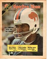 Sporting News 12/22 1973, Football magazine, O.J. Simpson, Buffalo Bills ~ Gd