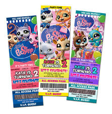 LITTLEST PET SHOP BIRTHDAY PARTY INVITATION TICKET 1ST -A1 CUSTOM INVITE CARD