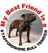 2 Staffordshire Bull Terrier Dog Car Stickers By Starprint