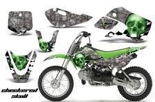 Decal Graphic Kit Wrap For Kawasaki KLX 110 2002-2009 KX 65 2002-2018 CHECKER G