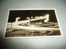 VINTAGE POSTCARD REAL PHOTO PONTOON BRIDGE SEATTLE LAKE WASHINGTON