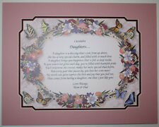 DAUGHTERS Personalized Poem ** Birthday Gift Idea **L@@K**
