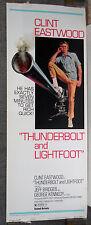 THUNDERBOLT AND LIGHTFOOT rolled original poster CLINT EASTWOOD/JEFF BRIDGES