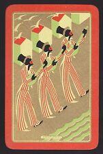 1 Single VINTAGE Swap/Playing Card EN MINSTREL MEN BANJO 'KENTUCKY KE-3-1'