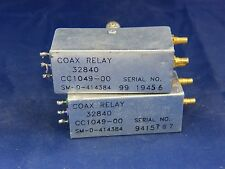 Lot of 2 Microwave RF Coax Relay SM-D-414384