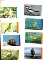 11 UNITED ARAB EMIRATES DHS 30 PHONE CARDS DEPICTING BIRDS IN VG/EX COND USED
