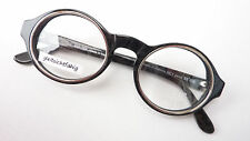 IDC runde Brille Brillengestell rund schwarz silber extrem auffallend Gr. M