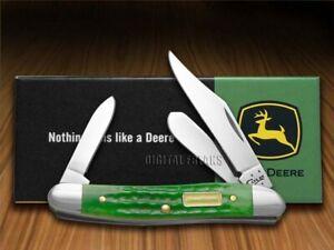Case xx John Deere Stockman Knife Jigged Green Bone Pocket 15746