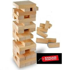 New Wooden Stacking Tumbling Tower like Jenga Kids Family Traditional Board Game