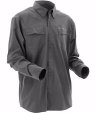 HUK PERFORMANCE Men's 'PHENOM L/S' Charcoal Grey BUTTON FRONT / WOVEN SHIRT - M