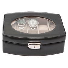 Black PU Leather Ten Watch Case : Storage / Display Case : New / In Box (4C)