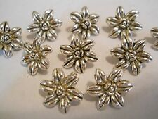 25 SILVER PLATED FLOWER DESIGNER TIBETAN VICTORIAN 2 HOLE SLIDER SPACER BEAD BAR