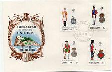 Gibraltar Uniformes Militares Sobre primer día año 1973 (DF-268)