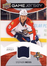 2012-13 Upper Deck Stephen Weiss Authentic Game-Used Jersey Card Panthers