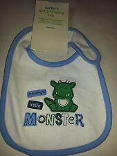 Carter's Mommy's Little Monster Green Dragon dinosaur BIB NWT one size