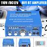 110V 600W HIFI Audio Stereo Power Amplifier bluetooth FM Radio 2CH Car