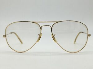 Ray ban B Aviator Lic USA True Vintage Bausch Lomb Gold 62-18 Large