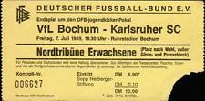 Ticket Endspiel DFB-jugendkicker-Pokal 07.07.1989 VfL Bochum - Karlsruher SC