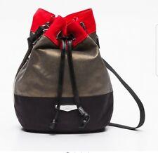 NEW kipling dominica kc khaki multi colour woven block x body bucket bag rrp£99