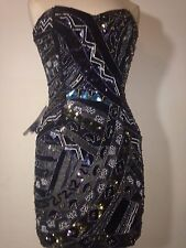 French Connection Sequined Strapless Mini Cocktail Dress...Size 6..New with Tags
