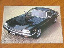 1982 Jaguar XJ -S H.E. original Australian market single page brochure