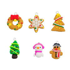 30PCs Christmas Nice Polymer Clay Charm Pendants Fit DIY Bracelet Ornaments
