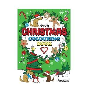 Christmas Colouring Book Stocking Filler Fun Activity Kids Children Tree