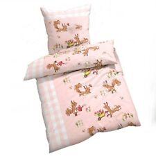Bed Cover Squirrel Pink/Cream Cotton 135 x 200 cm Button Closure