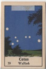 Constellation Cetus The Whale  Mythology  Astronomy Sky Stars 1930s Ad Card
