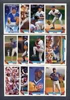 1993 Topps Chicago Cubs TEAM SET w/ Traded