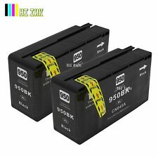 2PACK 950XL Black ink for HP 950XL 951XL OfficeJet Pro 8100 8600 8610 8620 8630