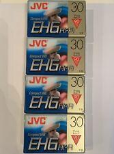 JVC TC-30 Compact VHS Tapes EHG Hi-Fi Loy Of 4