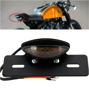 Motorcycle Integrated LED Tail Light Turn signal Brake License Plate Universal