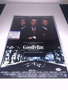 Martin Scorsese Director Signed Goodfellas Movie Poster photograph PSA/DNA COA