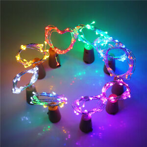20 LED Fairy String Lights Wine Bottle Copper Cork Wire Lamp Party Decor 2020