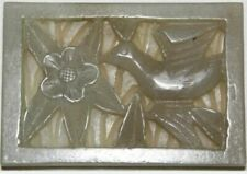 """Chinese Qing Carved Jade Plaque 1.635"""" X 2.375"""""""