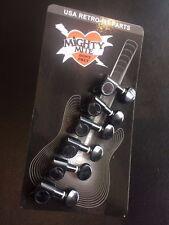 Mighty Mite Schaller Style Black 6 in Line Round Tuners J056B