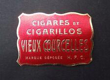 Ancienne étiquette BOITE DE CIGARE VIEUX COURCELLES old box cigar label