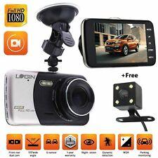 "Camera Video Dash Cam Recorder 170 4"" HD 1080P Dual Lens Car DVR Front and Rear"