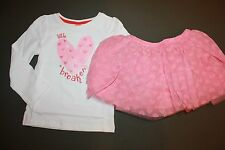 NWT Gymboree Valentines Day 5T Set Pink Glitter Heart Breaker Shirt Tutu Skirt