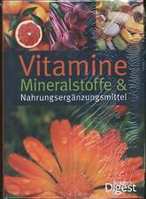 Vitamine, Mineralstoffe, Nahrungsergänzungsmittel