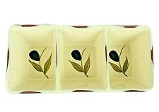 """Style Eyes Baum Bros. Olivera Collection Three Sections Divided Dish 9"""" Platter"""