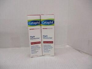 2 Cetaphil Redness Relieving Night Moisturizer Fragrance Free 1.7 OZ Ea AH 3384