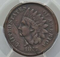 1877 Indian Cent, Extra Fine Detail (Damage), Rare Key Date, PCGS Authenticated
