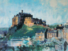 Colin Ruffell - Edinburgh Castle Midday - Ready Framed Canvas 30x40cm
