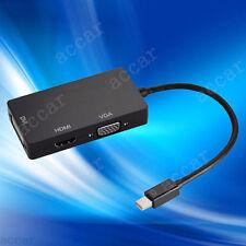 3in1 Thunderbolt Mini Display Port to Digi-Port HDMI DVI VGA Adapter MacBook Air