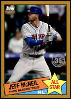 Jeff McNeil 2020 Topps 1985 35th Anniversary All-Stars 5x7 Gold #85AS-45 /10 Met