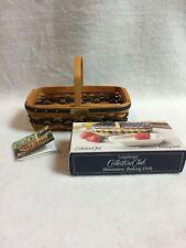 Longaberger (2000) Collectible Miniature Gathering Basket, Miniature Baking Dish